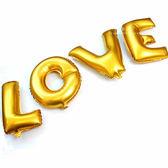 自由組合英文字母16吋鋁箔氣球 (無充氣) 金色 派對氣球 字母氣球 鋁箔氣球