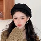 畫家帽 造型帽 貝雷帽子女秋冬季英倫復古韓版ins百搭日系南瓜八角畫家帽時尚潮
