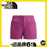 【The North Face 女 SCafe短褲 覆盆子玫瑰】NF00CZR4/短褲/休閒短褲