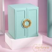 首飾盒歐式戒指耳釘收納盒婚禮多層飾品珠寶項鏈盒【繁星小鎮】
