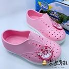 【樂樂童鞋】台灣製POLI安寶洞洞鞋-粉色 P057 - 女童鞋 男童鞋 涼鞋 休閒鞋 大童鞋 小童鞋 洞洞鞋