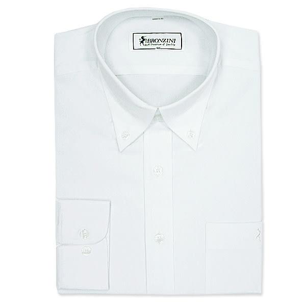 BRONZINI UNICORN襯衫-經典型(NEW YORK)-白色-彈性素色-6496518-501