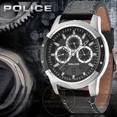 POLICE 義大利國際品牌CONCEPT 鋼鐵型男潮流日曆腕錶14381JSUB 61