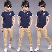 童裝男童夏裝套裝 新款中大童休閒韓版兩件套 LR1813【VIKI菈菈】