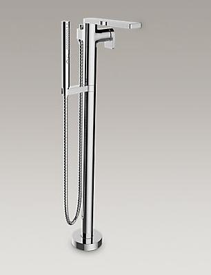 【麗室衛浴】美國 KOHLER Composed系列 地式浴缸花灑龍頭(鉻) K-73087T-4-CP