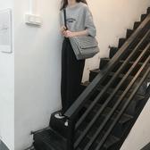 書包女韓版高中大容量帆布包百搭單肩斜背包時尚休閒學生郵差包女 檸檬衣舍