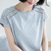 蝙蝠袖純棉t恤女短袖寬鬆大碼拼接小衫體恤40歲中年媽媽半袖t?衫