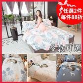 微秋風 D3雙人床包與兩用被4件組  多種花色  台灣製造  100%純棉 棉床本舖