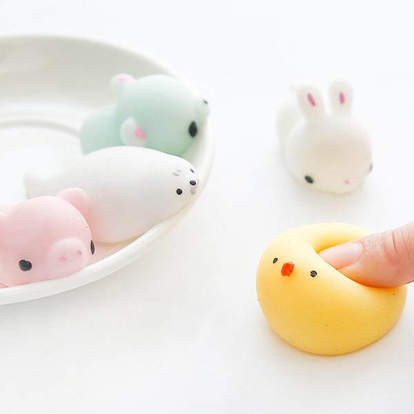 【00043】 減壓捏捏樂 可愛動物丸子 紓壓小物 北極熊 小雞 小熊