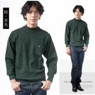 【大盤大】N12-828 墨綠 純羊毛毛衣 男 半高領毛衣 口袋發熱衣 圓領套頭 發熱衣機關制服學生