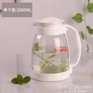 冷水壺大容量玻璃耐高溫涼白開水杯茶壺套裝家用果汁壺防爆涼水壺CY『新佰數位屋』