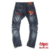 【BOBSON】男款翻轉系列刺繡牛仔褲(1772-52)