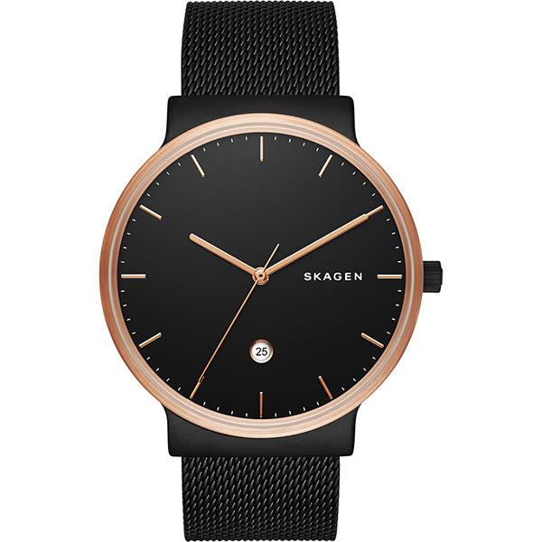 SKAGEN 北歐時尚石英米蘭腕錶/手錶-鍍黑/40mm SKW6296