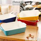 愛美惠家用多色陶瓷烤盤長方形芝士焗飯碗盤西餐盤微波烤箱適用 NMS造物空間