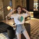 出清$188 韓系雙面變色愛心亮片T恤圓...
