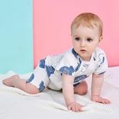 嬰兒連身衣夏季短袖薄款