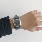 方形手表男士学生石英皮带时尚防水机械潮流个性韩版个性酷 『新佰數位屋』