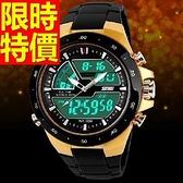 運動手錶-防水經典款休閒電子腕錶8色61ab3[時尚巴黎]