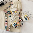 胸包 卡通小孩包包可愛小挎包時尚男女童韓版帆布兒童斜背包寶寶胸包潮