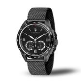 MASERATI瑪莎拉蒂 TRAGUARDO黑鋼計時米蘭帶腕錶45mm(R8873612031)