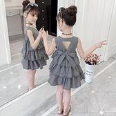 女童夏裝2021  洋氣洋裝女寶寶裙子公主裙女公主兒童蛋糕裙潮幸福第一站
