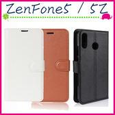 Asus ZenFone5 / 5Z (2018) 6.2吋 荔枝紋皮套 側翻手機套 支架 磁扣 錢包款保護殼 插卡位手機殼 保護套