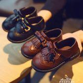 布洛克流蘇公主皮鞋2019春秋新款兒童鞋子女童皮鞋寶寶學步鞋單鞋『夢娜麗莎精品館』