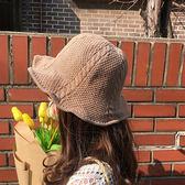 漁夫帽 可折疊防曬帽子 情侶針織禮帽【非凡上品】z250