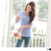 《AB9467》高含棉袖拼接透膚蕾絲純色上衣 OrangeBear
