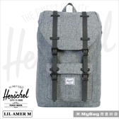 Herschel 後背包 Little America 中型 灰色 小美國筆電後背包 LIL-AMER-M-919  MyBag得意時袋