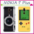 Nokia 7 Plus 6吋 創意彩繪系列手機殼 個性背蓋 TPU手機套 經典圖案保護套 錄音機保護殼 全包軟款
