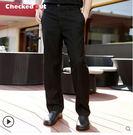 工作服春夏廚師工作褲子Checkedout服務員褲子酒店服務員工作長褲