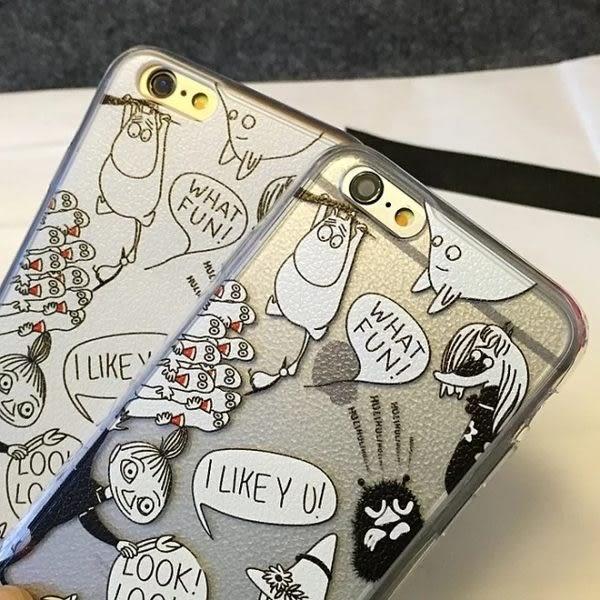 【SZ33】JJ 嚕嚕米 小不點 可愛芬蘭姆明 荔枝皮紋 硬殼i iphone 6 plus手機殼 iPhone 7/8 iphone se 手機殼