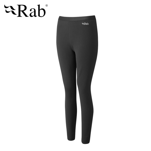 【英國 RAB】Power Stretch Pro Pants 保暖排汗內搭褲 男款 黑色 #QFE40