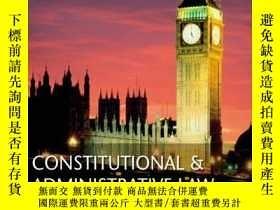 二手書博民逛書店Constitutional罕見And Administrative LawY256260 A W Bradl