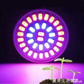 植物燈 免運E27植物生長燈5W 多肉上色防徒書桌綠植補光育苗紅藍燈珠220V220V『夏茉生活』