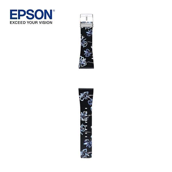 EPSON Flower Black Band SS 夜見羅蘭錶帶/輕描牡丹錶帶
