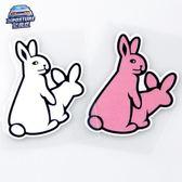 個性惡搞車貼可愛卡通兔子汽車貼紙劃痕貼反光貼油箱蓋貼畫【韓衣舍】