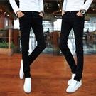 牛仔褲 青年修身韓版小腳褲男士彈力潮流牛仔褲男生休閒黑色長褲子