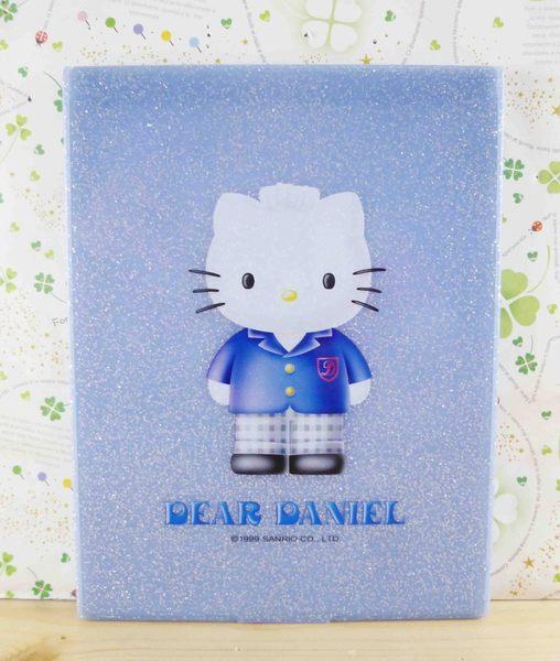 【震撼精品百貨】Hello Kitty 凱蒂貓-HELLO KITTY摺鏡-丹尼爾圖案-藍色