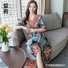 沙灘裙 云南民族風洋裝2020新款夏麗江...