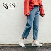 Queen Shop【04011281】基本純色牛仔AB褲 S/M/L*現+預*