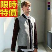 夾克外套 太空棉-時尚迷彩拼接撞色男立領外套3色65ac16[巴黎精品]
