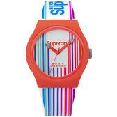 【台南 時代鐘錶 Superdry】極度乾燥 美式和風 文化衝擊潮流腕錶 SYL173U 38mm