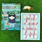 【書寶二手書T6/嗜好_AAA】貓的印象_Mimi創作貓咪明信片D_4款合售