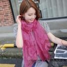 絲巾女士百搭披肩兩用長款紗巾薄款韓版超大圍巾【時尚大衣櫥】