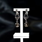 【喨喨飾品】茶水晶 夾式耳環飾品  S3...