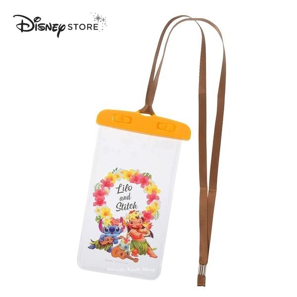 日本 DISNEY STORE 迪士尼商店限定 史迪奇 莉蘿 醜丫頭 Hawaiian Stitch 手機防水袋 / 防水保護套