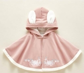 嬰兒披風嬰兒斗篷加厚秋冬款加絨男女寶外套公主防風古裝可愛外出兒童披肩 小天使