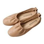 YUKI小樹家超軟粉色卡其色單鞋平底鞋娃娃鞋韓國新款